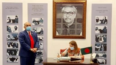 কুয়েতে বাংলাদেশ দূতাবাস পরিদর্শন যুক্তরাজ্য রাষ্ট্রদূতের