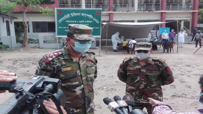 করোনা প্রতিরোধে দিন-রাত কাজ করছে সেনাবাহিনী