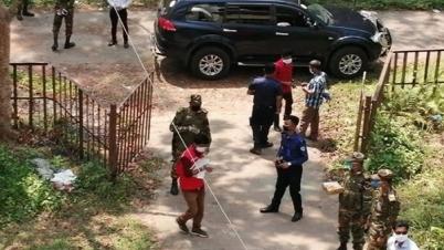 কাপ্তাইয়ে কোয়ারেন্টাইন হোমে খাবার দিলো সেনাবাহিনী