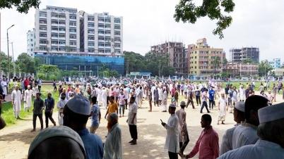চট্টগ্রামে জামায়াত নেতার জানাজায় ছাত্রলীগ-শিবির সংঘর্ষ