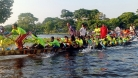ঘাঘর নদীতে ঐতিহ্যবাহী নৌকা বাইচ