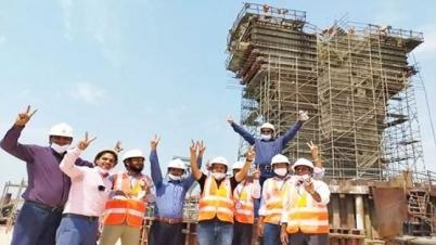 'পদ্মা সেতুর ৪২টি খুঁটির সবগুলোর নির্মাণ কাজ শেষ'